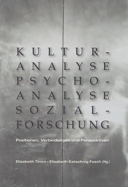 Kulturanalyse - Psychoanalyse - Sozialforschung - Coverbild
