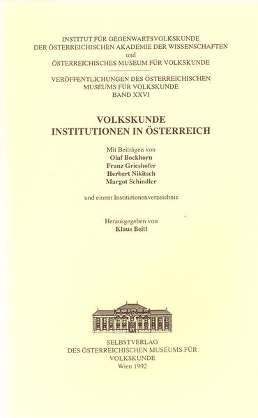Volkskunde - Institutionen in Österreich - Coverbild