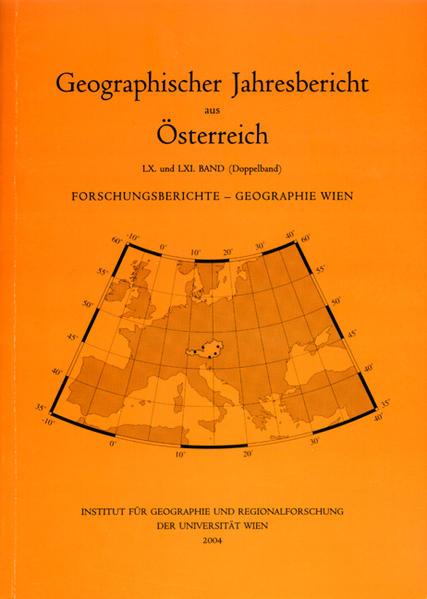 Forschungsberichte aus dem Institut für Geographie und Regionalforschung der Universität Wien - Coverbild