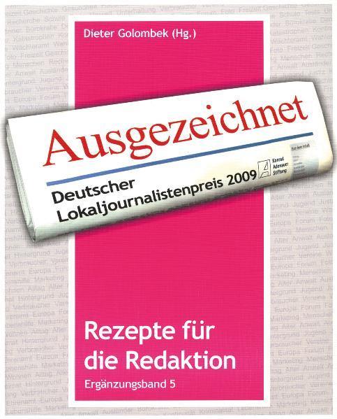 Rezepte für die Redaktion - Coverbild