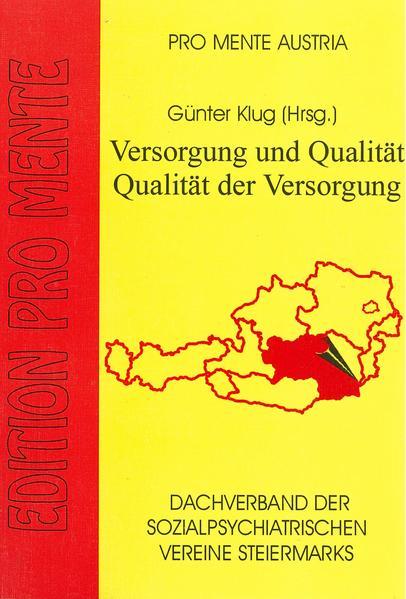 Versorgung und Qualität - Qualität der Versorgung - Coverbild