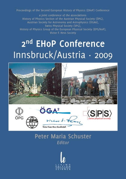 Proceedings of the 2nd European History of Physics (EHoP) Conference, Innsbruck/Austria, 2009 - Coverbild