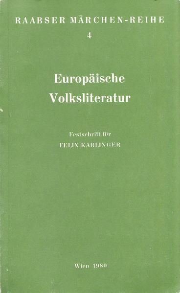 Europäische Volksliteratur - Coverbild