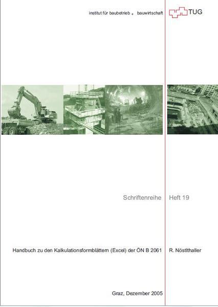 Handbuch zu den Kalkulationsformblättern (Excel) der ÖN B 2061 - Coverbild