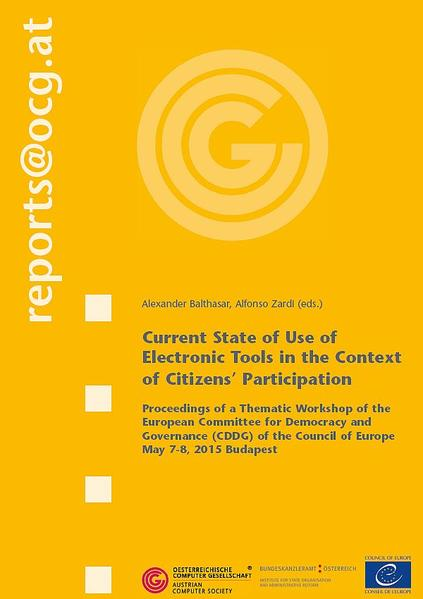 Current State of Use of Electronic Tools in the Context of Citizens' Participation - Coverbild