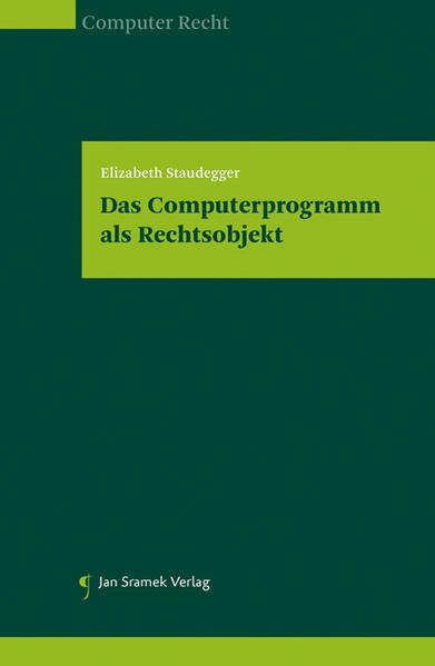 Das Computerprogramm als Rechtsobjekt EPUB Kostenloser Download