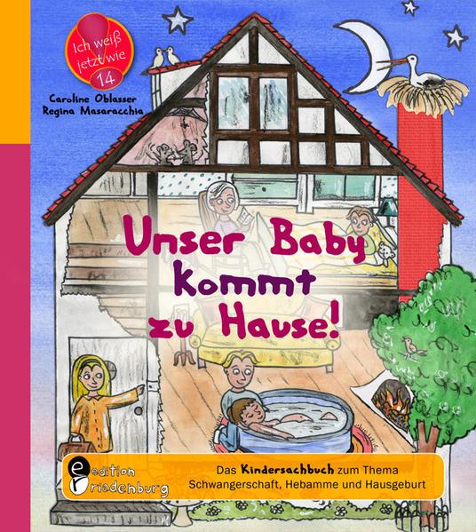 Unser Baby kommt zu Hause! Das Kindersachbuch zum Thema Schwangerschaft, Hebamme und Hausgeburt - Coverbild
