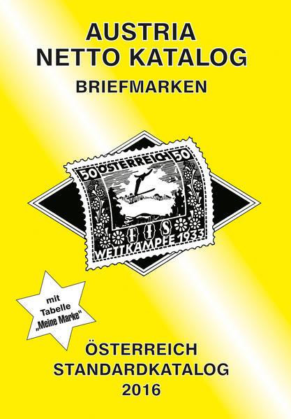 ANK-Oesterreich Standardkatalog 2016 - Coverbild