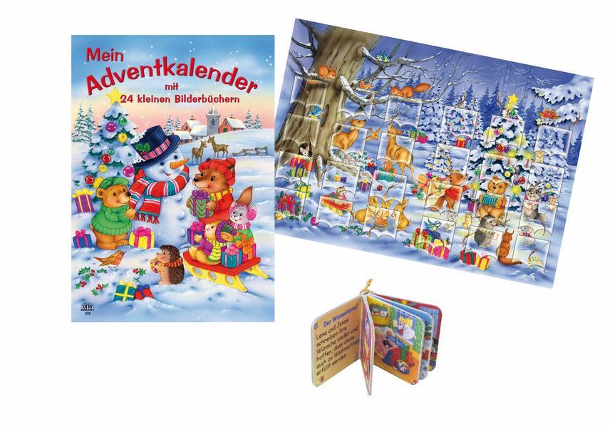Mein Adventkalender mit 24 kleinen Bilderbücher - Coverbild