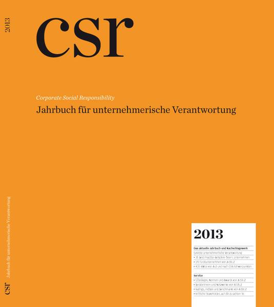 CSR Corporate Social Responsibility 2013 - Coverbild