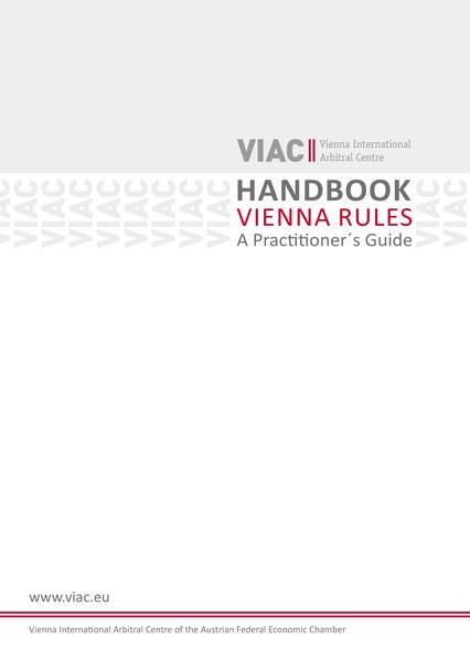 Handbook Vienna Rules - Wiener Regeln in englischer Sprache - Coverbild