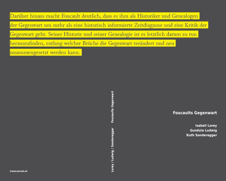 Foucaults Gegenwart - Coverbild