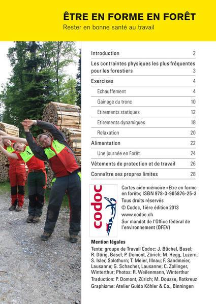 Aide-mémoire Être en forme en forêt - Coverbild