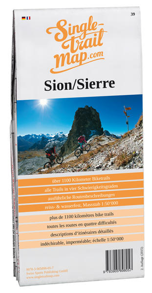 Singletrail Map  039 Sion/Sierre  - Coverbild