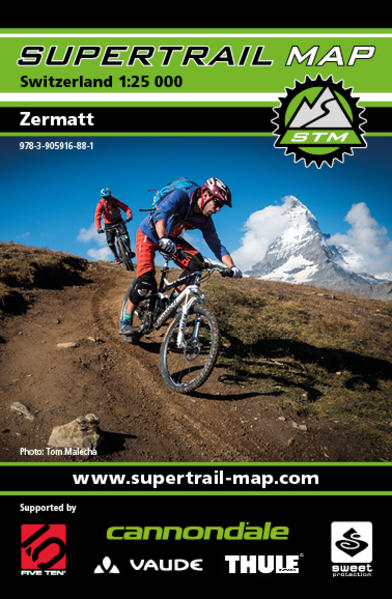 Supertrail Map Zermatt - Coverbild