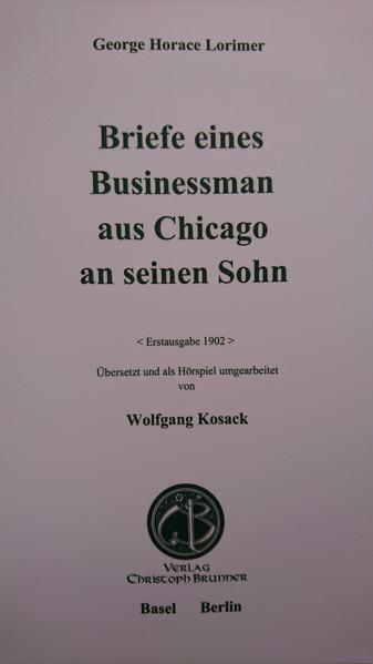 Briefe eines Businessman aus Chicago an seinen Sohn - Coverbild