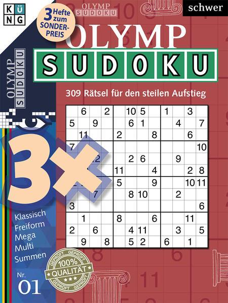 Olymp-Sudoku 3er-Band Nr. 1 - Coverbild