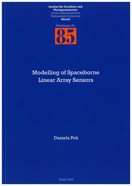 Modelling of Spaceborne Linear Array Sensors - Coverbild
