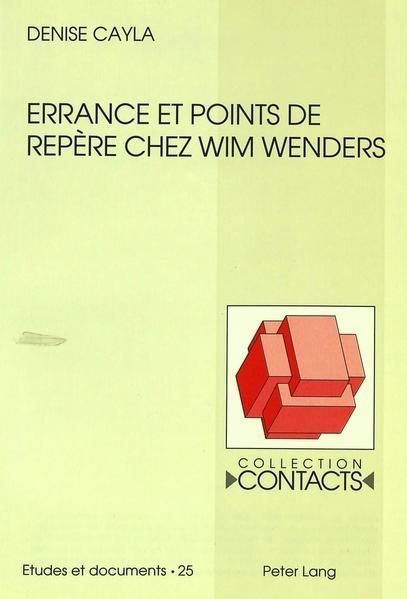 Errance et points de repère chez Wim Wenders Kostenloser Hörbuch-Download auf Deutsch