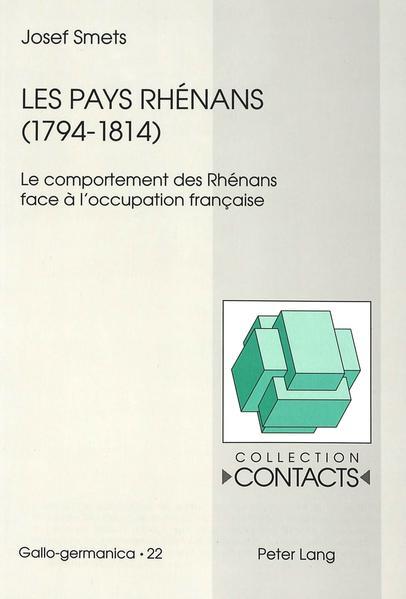 Les pays rhénans (1794-1814) - Coverbild