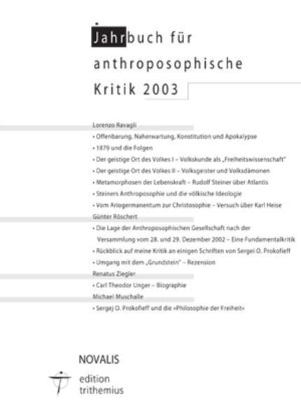 Jahrbuch für Anthroposophische Kritik 2003 - Coverbild