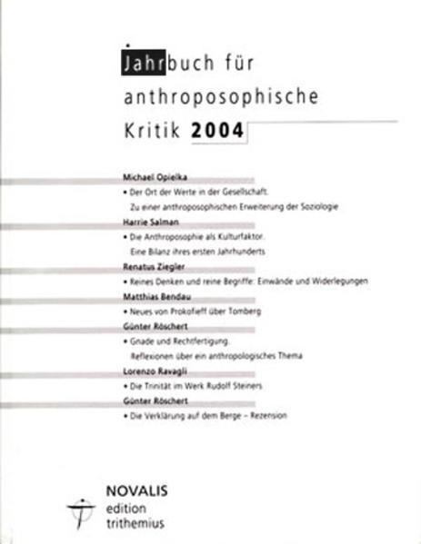 Jahrbuch für Anthroposophische Kritik 2004 - Coverbild