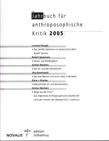 Jahrbuch für Anthroposophische Kritik 2005 - Coverbild