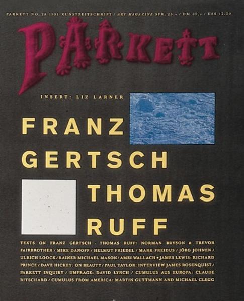Gertsch, Franz/ Ruff, Thomas - Coverbild