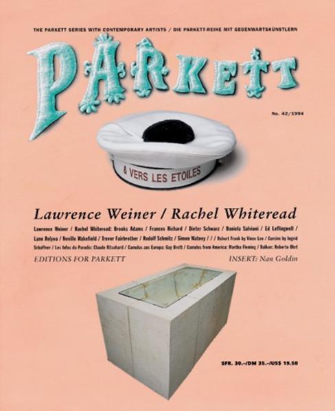 Whiteread, Rachel/ Weiner, Lawrence - Coverbild