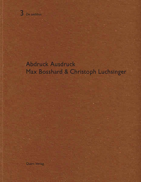 Max Bosshard & Christoph Luchsinger - Coverbild