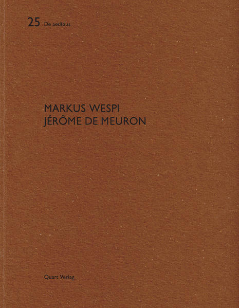 Markus Wespi Jérôme de Meuron - Coverbild