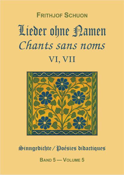 Sinngedichte / Lieder ohne Namen VI, VII - Coverbild