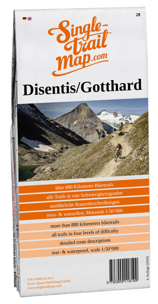 Singletrail Map 028 Disentis/Gotthard  - Coverbild