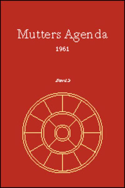 Agenda der Supramentalen Aktion auf der Erde / Mutters Agenda 1961 - Coverbild