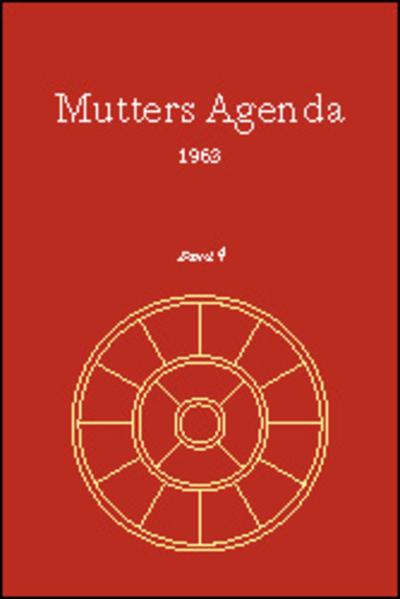 Agenda der Supramentalen Aktion auf der Erde / Mutters Agenda 1963 - Coverbild