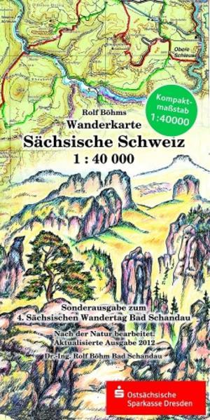 Wanderkarte Sächsische Schweiz - Coverbild