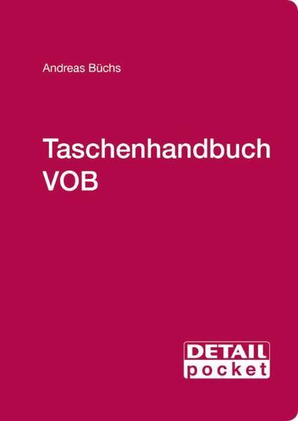 Taschenhandbuch VOB - Coverbild