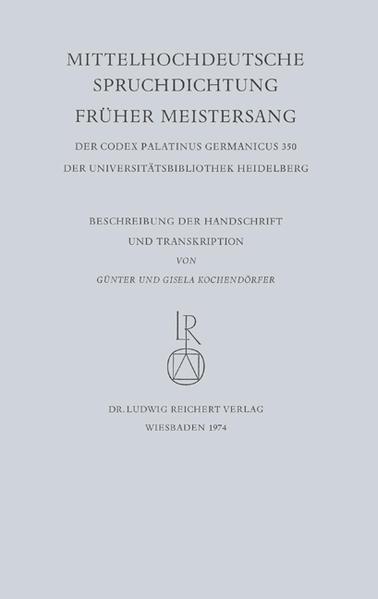 Mittelhochdeutsche Spruchdichtung – Früher Meistersang - Coverbild