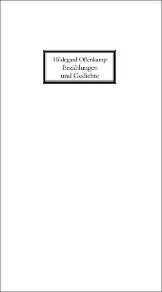 Erzählungen und Gedichte - Coverbild