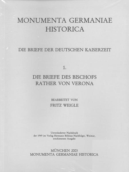 Die Briefe der deutschen Kaiserzeit / Die Briefe des Bischofs Rather von Verona - Coverbild