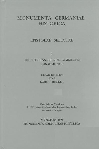 Epistolae selectae / Die Tegernseer Briefsammlung. Froumund - Coverbild