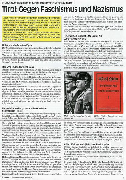 Der Tiroler - Gegen Faschismus und Nazismus - Coverbild