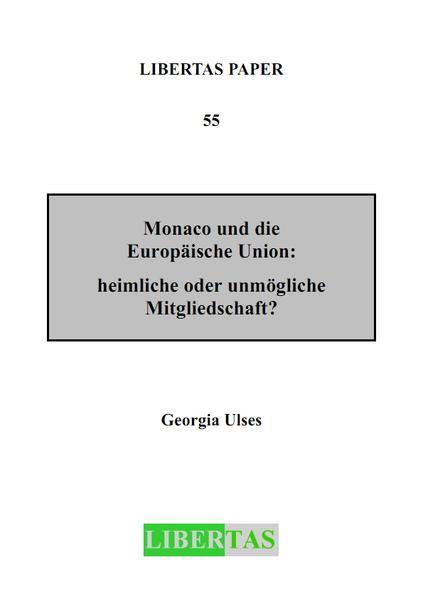 Monaco und die Europäische Union - Coverbild