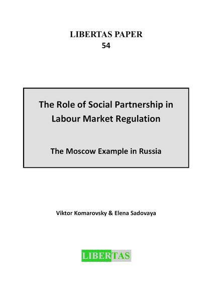 The Role of Social Partnership in Labour Market Regulation - Coverbild