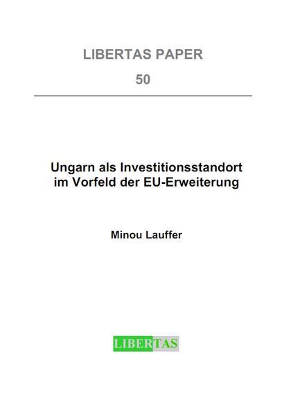 Ungarn als Investitionsstandort im Vorfeld der EU-Erweiterung - Coverbild