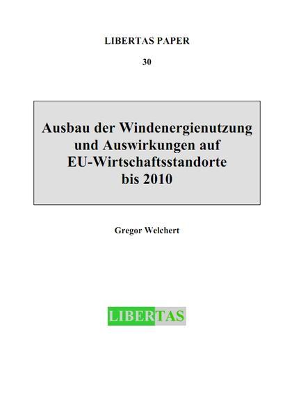 Ausbau der Windenergienutzung und Auswirkungen auf EU-Wirtschaftsstandorte bis 2010 - Coverbild