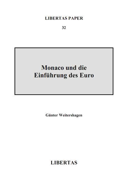 Monaco und die Einführung des Euro - Coverbild
