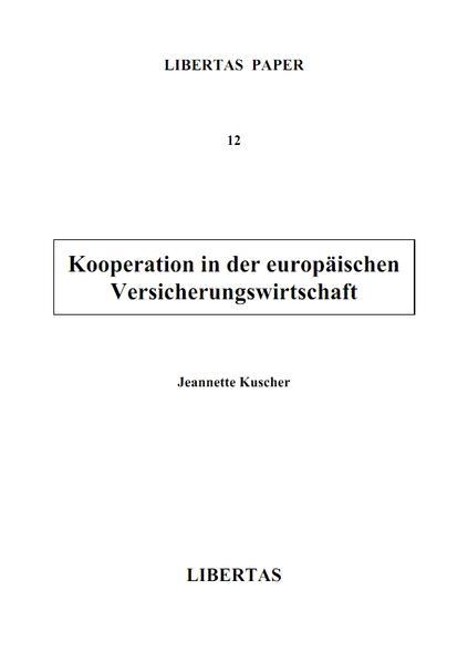 Kooperation in der europäischen Versicherungswirtschaft - Coverbild