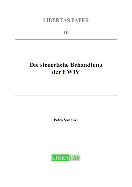 Die steuerliche Behandlung der EWIV - Coverbild