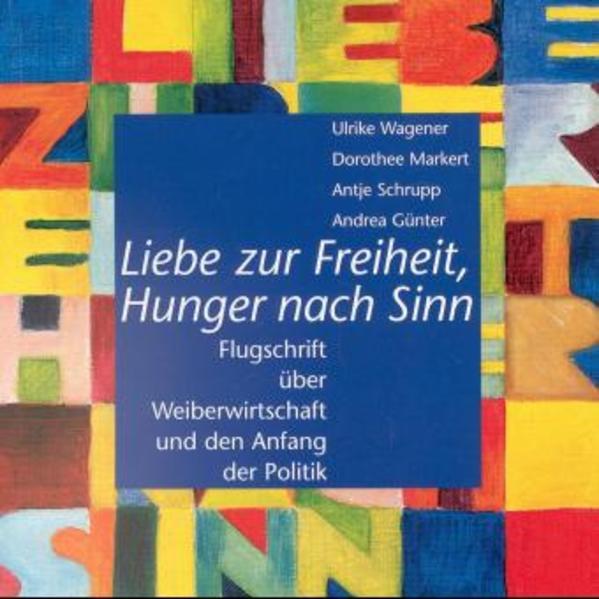 Liebe zur Freiheit, Hunger nach Sinn - Coverbild